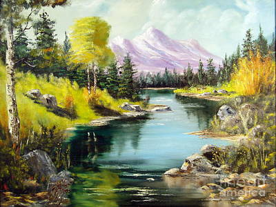 Painting - Fall In The Rockies by Lee Piper