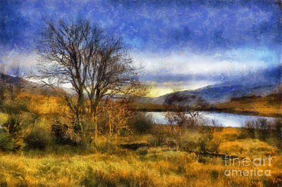 Autumn Landscape Digital Art - Fall Lake by Ian Mitchell