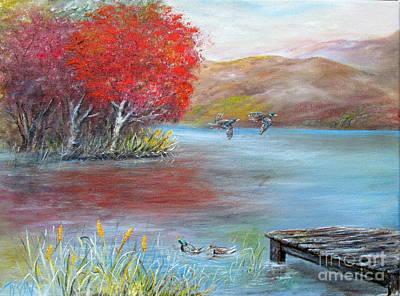 Fall Lake Original by John Garland  Tyson