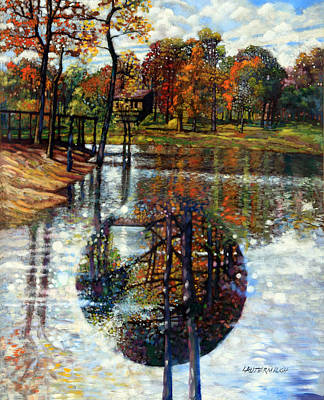 Painting - Fall Lake by John Lautermilch