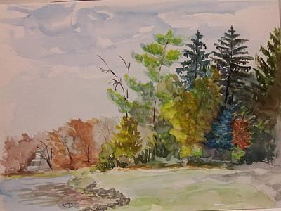 Fall Lake Lucille Art Print