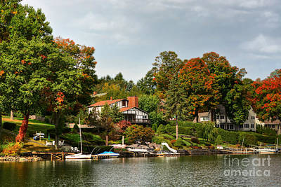 Photograph - Fall Lake Scene by Kathy Baccari