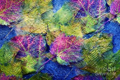 Fall Leave Abstract Art Print by Judy Palkimas