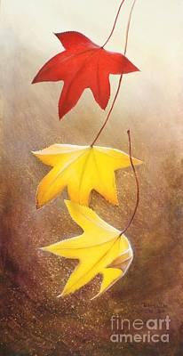 Fall Leaves 2 Art Print by Teresa Wadman
