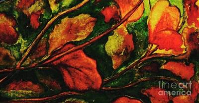 Painting - Fall Leaves 3 by Hazel Holland