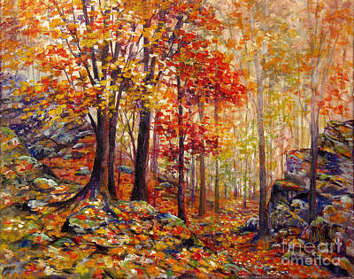 Painting - Fall Leaves Hinckley Ohio by Lou Ann Bagnall