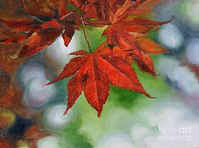 Maple Leaf Art Painting - Fall Leaves by Lori Pittenger