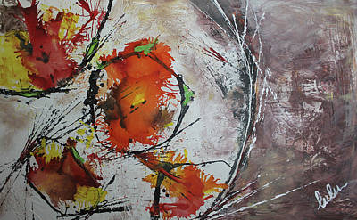 Mixed Media - Fall Moon by Lucy Matta - Lulu