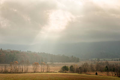 Photograph - Fall Morning In Cades Cove  by Victor Culpepper