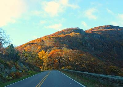 Photograph - Fall Mountain Road by Candice Trimble