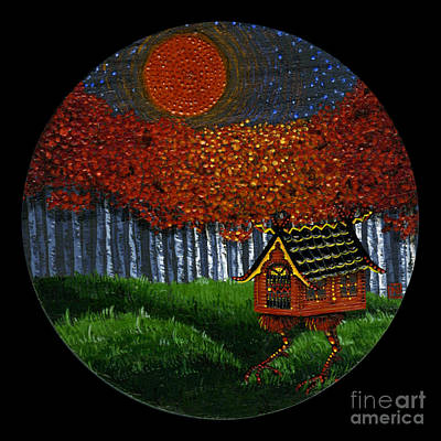 Baba Painting - Fall by N Larson