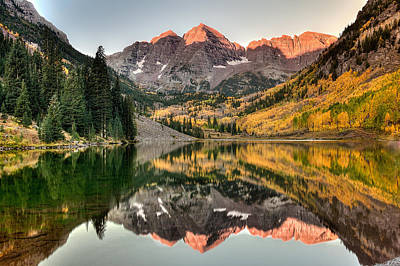Colorado Autumn Landscapes Photograph - Fall N Reflections by Ryan Smith