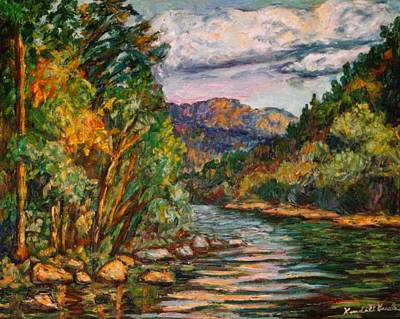 Painting - Fall New River Scene by Kendall Kessler