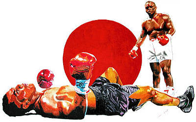 Knockout Mixed Media - Fall Of The Giant by Andre Ajibade