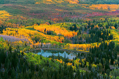 Photograph - Fall Of The Wasatch by Dustin  LeFevre