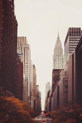 Chrysler Building Photograph - Fall On 42nd Street by Irene Suchocki