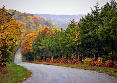 Cricket Photograph - Fall On Fox Hollow Road by Cricket Hackmann