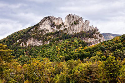 Fall On Seneca Rocks West Virginia Art Print