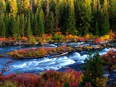 Print featuring the photograph Fall On The Deschutes River by Kevin Desrosiers