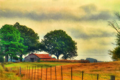 Photograph - Landscape - Barn - Fall On The Farm by Barry Jones