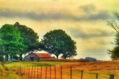 Landscape - Barn - Fall On The Farm Art Print by Barry Jones