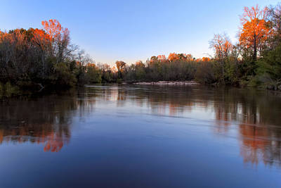 Photograph - Fall On The Flint River - Georgia by Mark E Tisdale