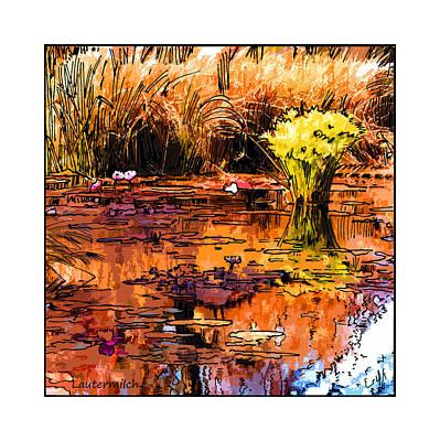 Fall On The Garden Pond Original