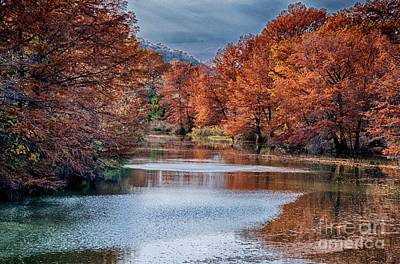 Fall On The Guadalupe Art Print by Ken Williams