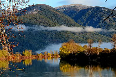 Photograph - Fall On The Kootenai by Annie Pflueger