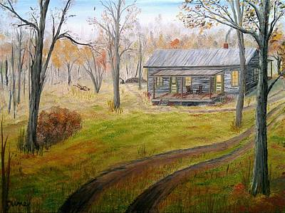 Back Porch Painting - Fall On The Murphy Family Farm by David June