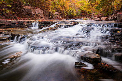 Fall On The River Art Print by Gregory Ballos