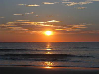 Photograph - Fall Orange Sunrise by Ellen Meakin