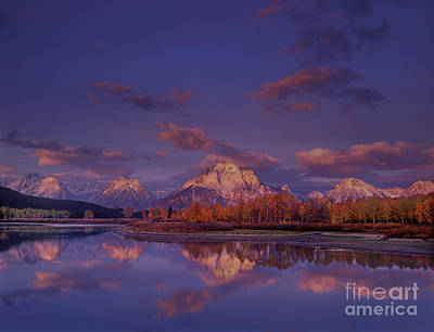 Photograph - Fall Oxbow Bend Grand Tetons National Park Wyoming by Dave Welling