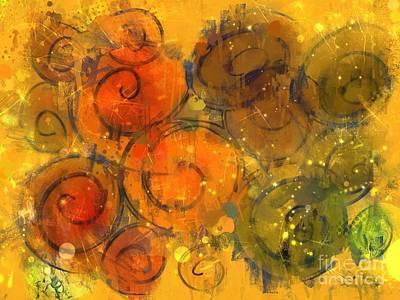 Painty Digital Art - Fall Paint Party by Nancy Aikins