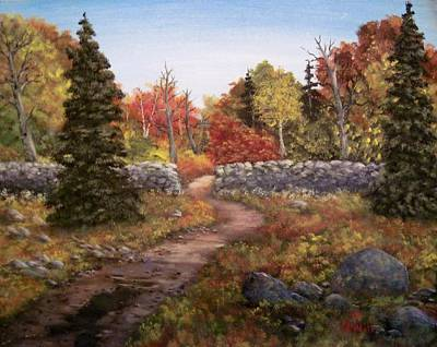 Art Print featuring the painting Fall Path by Megan Walsh