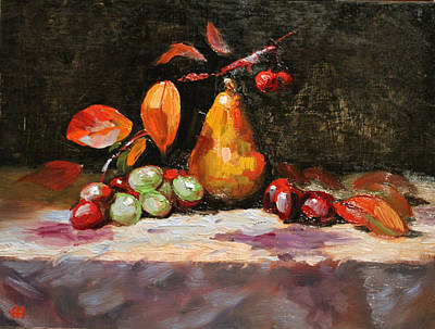 Painting - Fall Pear by Ellen Howell