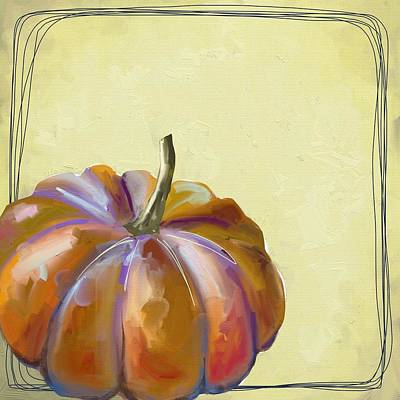 Wall Art - Painting - Fall Pumpkin by Cathy Walters