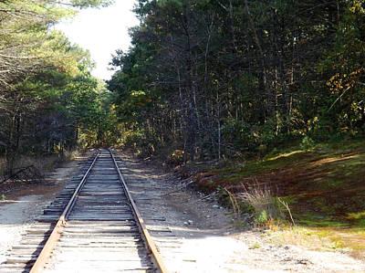 Fall Railroad Track To Somewhere Art Print