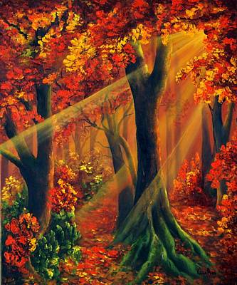 Painting - Fall Rays by Katia Aho