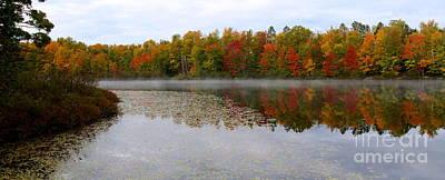 Fog Mist Mixed Media - Fall Reflection by Nancy TeWinkel Lauren