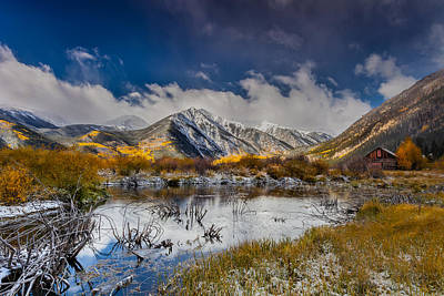 Colorado Captures Photograph - Fall Reflection Pond by Steven Reed