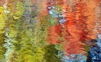 Photograph - Fall Reflections-2 by Minartesia