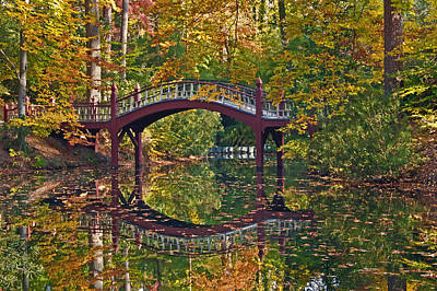 Fall Reflections At Crim Dell Art Print