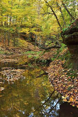 Photograph - Fall Reflections At Derward's Glen by Leda Robertson