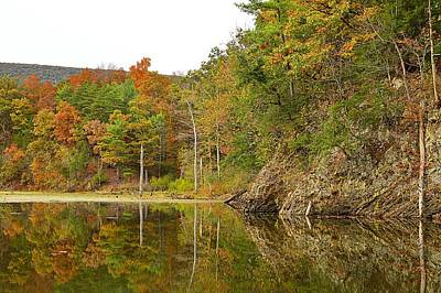 Photograph - Fall Reflections At Pardee Pond #1 by Joel E Blyler
