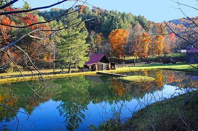 Photograph - Fall Reflections At The Farm  by Lynn Bauer