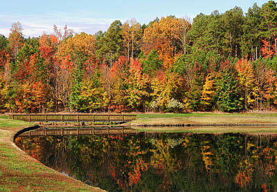 Photograph - Fall Reflections Three by Ben Shields