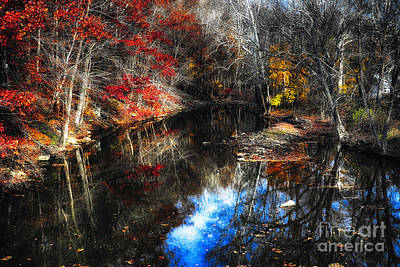 Fall Reflections In A Canal Art Print