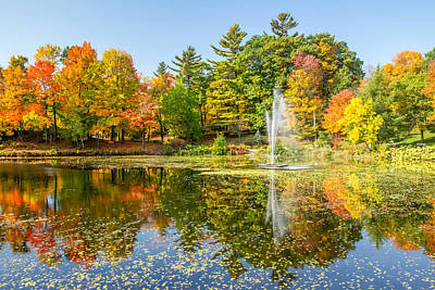 Photograph - Fall Reflections In Sherbrooke by Pierre Leclerc Photography