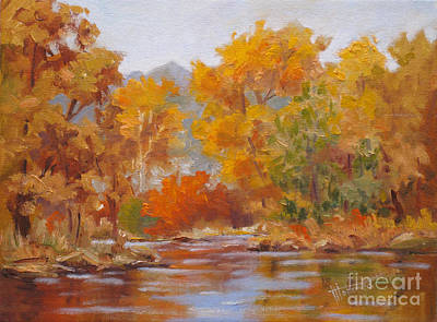 Mohamed Painting - Fall Reflections by Mohamed Hirji